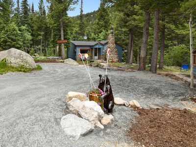 Photo for DEW DROP INN Cabin, highway 72,  creek front. Near Estes, Allenspark , Boulder,