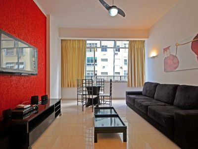 Photo for 3 bedrooms modern apartment with ocean view for 7 persons in Copacabana!