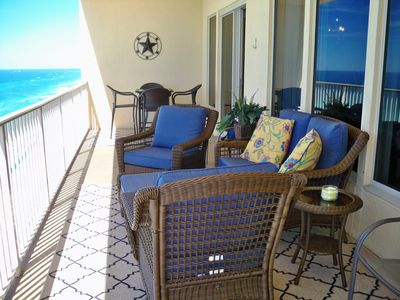 Photo for Gulf Front;BEST BALCONY; Walk In Shower; Very Updated;Flat Screen TVs; Bch Servc