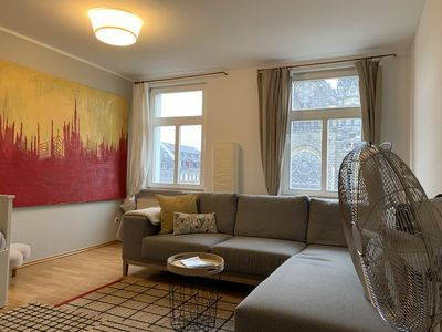 Photo for Cozy apartment in the Südvorstadt with a view of the Peterskirche