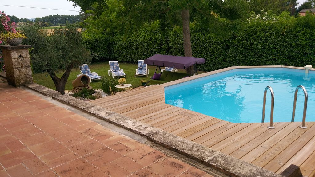 villa with garden swimming pool large covered terrace and garden terrace pont saint esprit. Black Bedroom Furniture Sets. Home Design Ideas