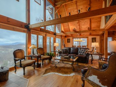 Photo for Upscale Mountain Cottage, Long Range Views, near Blowing Rock, Boone, App Ski Mtn, and Tweetsie
