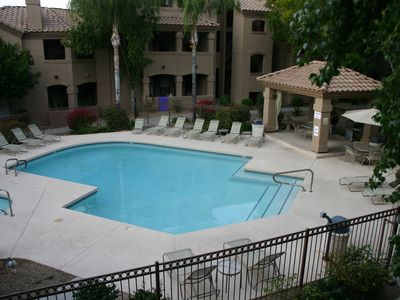 Photo for Luxury Two Bedroom North Scottsdale Condo Overlooking Pool/Hot Tub/BBQ