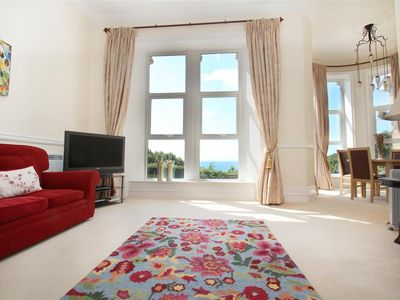 Photo for This luxurious ground floor apartment forms part of the beautiful Langland Bay Manor House. Interior
