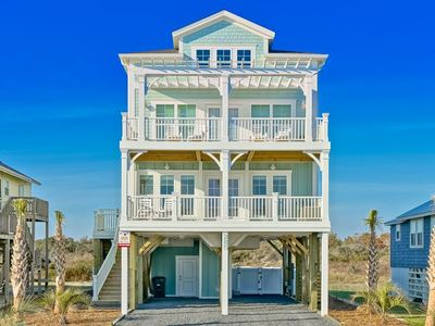 Photo for Unobstructed ocean views from this stunning new beach home!