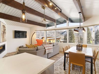 Photo for Warm And Inviting Aspen Mountain Ski-in/Out Retreat With Beautiful Decor, Parking, Outdoor Pool, W/D