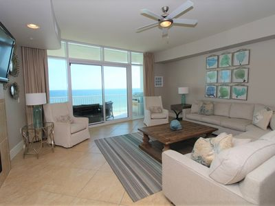 Photo for Turquoise D706-Beach Front w/Large Terrace & Hot Tub, Saltwater Lazy River!