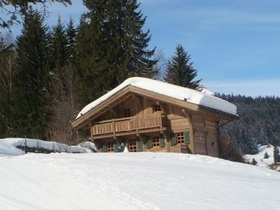 Photo for Lovely little cottage on the edge of the slopes, beautiful view of Mont Blanc