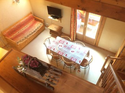 Photo for 2 rooms mezzanine 6 people 3épis exposed South-East
