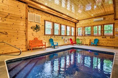 Keep the kids entertained with the indoor heated pool, completely private!