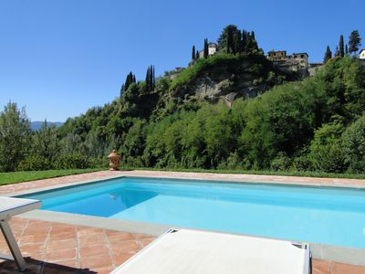 Photo for Barga! View of Duomo walk to old town. Own pool. Ideal for two! Wifi