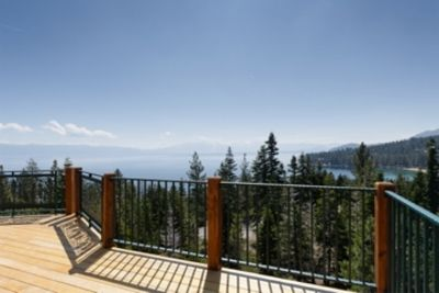Gorgeous lake views from sunny deck
