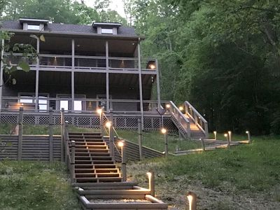 Photo for Hiwassee Haven...All Amenities...(Covered Dock, Firepit, Pedal Boat, Hot Tub..