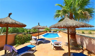 Photo for Alcoraia Majorcan villa with pool near the beach 408