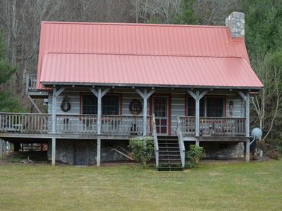 Photo for Secluded Log Cabin With Gorgeous Mountain View