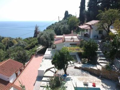 Photo for Two  Rustic Villas with Sea view and Swimming pool