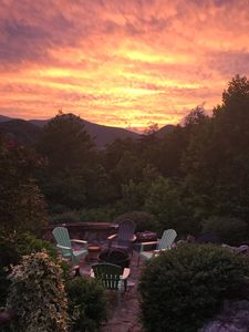 Breathtaking sunset view with a year round mountain view.