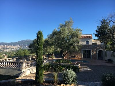 Photo for Peaceful w Amazing Views & Heated Salt Water Pool nr Valbonne & Mougins
