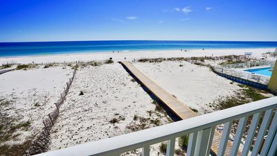 Photo for DIRECT GULF FRONT/VIEW CONDO, STEPS FROM THE WATER, BEACH SIDE POOL, ROOM FOR THE WHOLE FAMILY