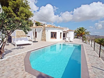 Photo for Your holiday home with panoramic sea views in Moraira, the pearl of the Costa Blanca