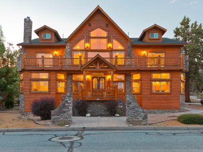 Photo for The Cabin- Truly a Grand Log Cabin with spa and pool table game-room.