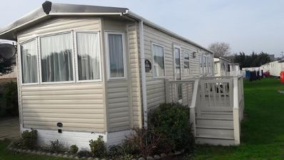 Photo for La Vacanza static 4 berth holiday caravan, at Suffolk Sands next to the beach