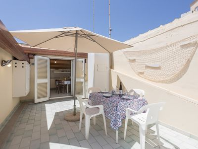 Photo for Saltwater Penthouse with terrace, parking space 50 meters from the sea and the city center