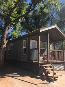 Photo for Cabin with Queen Bed, Bunks, Pool, and 1/2 Mile from Zion NP Entrance