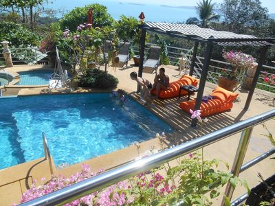 Photo for VILLA 3 bedroom seaview in front + Large Pool + Jacuzzi