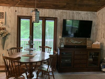 Photo for Professionally Decorated Mountain Cottage with seasonal views of Lake Santeetlah