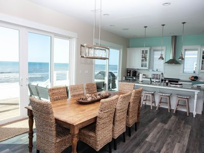 Photo for Gulf front, newly built, professionally decorated, large deck, elevator