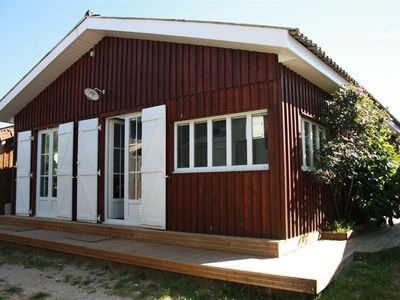 Photo for B05-Wooden house, ground floor, charming, functional, ideal for 10 pers