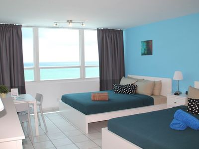 Photo for 7th** Beach Front Ocean View Free parking
