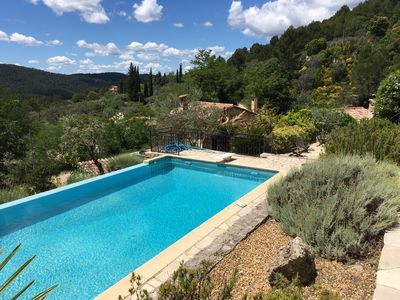 Photo for 5 bed spacious Provencal house with Infinity pool & breathtaking views