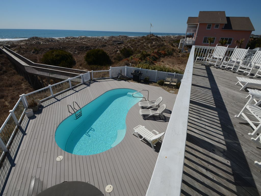 PET FRIENDLY Exquisite oceanfront 5 BED 6 BA W Private Pool & Hot Tub Cedar Point North