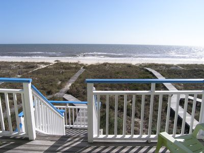 """Photo for """"Boardwalk"""" - Beach Front  Cottage with Fun Decorations for a memorable Getaway!"""