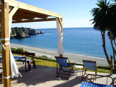 Photo for Beautiful Home Located Directly on a Secluded Beach with Terraces, Garden & Wi-Fi
