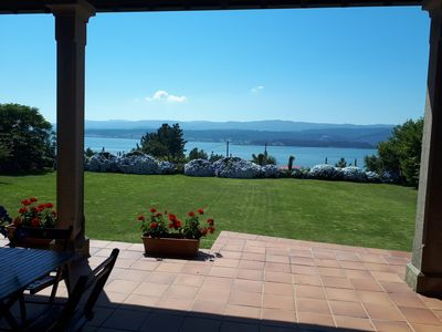 Photo for Lovely house, wonderfull views over the sea, free wi-fi, fireplace, bbq, garden