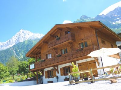 Photo for Chalet with amazing views of the Mont Blanc Massif
