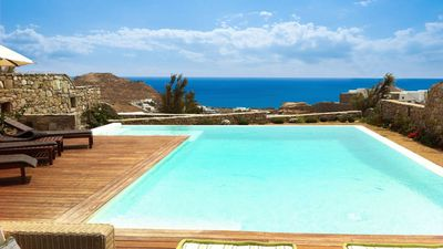 Photo for Villa Nestor a brand new 3 bedroom villa in the south of Mykonos, between the beaches of Kalafatis a