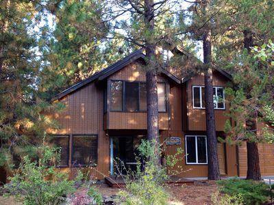 Photo for Cozy Cabin Among Towering Ponderosas, Aspens & Landscaped Waterfalls