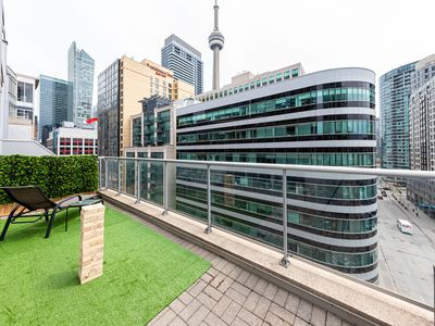 Photo for 2BR+2BD+Parking w/Terrace & Views of CN Tower