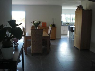 Photo for At the heart of the village, 3 km of sandy beaches, beautiful contemporary