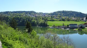 Exceptional Panorama Of The Doubs Basins And Switzerland