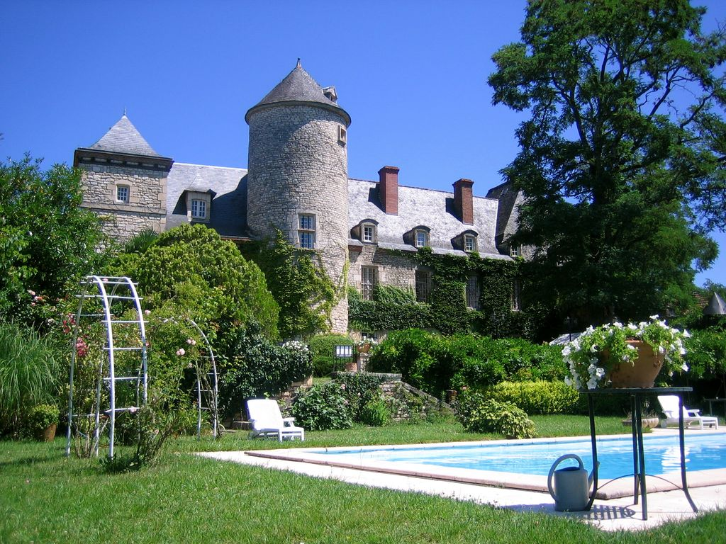 Chateau Raysse_ View From Pool.