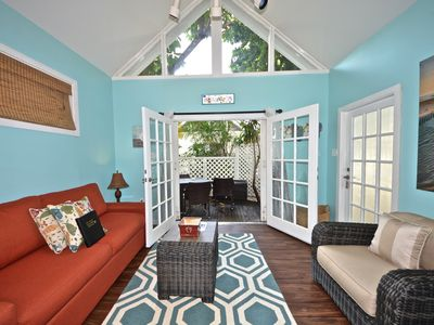 Photo for Vibrant, dog-friendly cottage w/ shared pool, entertainment & full kitchen