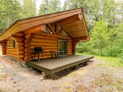 Photo for Lakefront Private Log Cabin, close to Pemberton - The Osprey