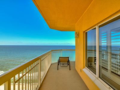 Photo for Walk to white sands, beach view unit, shared pool!