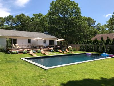 Photo for Serenity on Half Acre, w/ InGround Heated Saltwater Pool, Yoga!