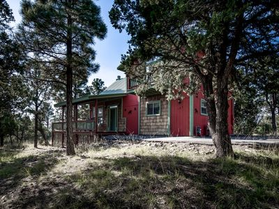 Photo for LARGE 2 LEVEL CABIN, HOT TUB, WIFI, CENTRAL AIR, UPPER CYN AREA